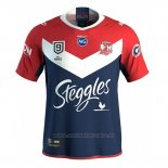 Camiseta Sydney Roosters 9s Rugby 2020 Rojo Azul