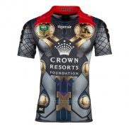 WH Camiseta Melbourne Storm Thor Marvel Rugby 2017 Amarillo