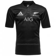WH Camiseta Nueva Zelandia All Blacks Rugby 2016 Local