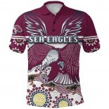 Camiseta Polo Manly Warringah Sea Eagles Rugby 2021 Indigena