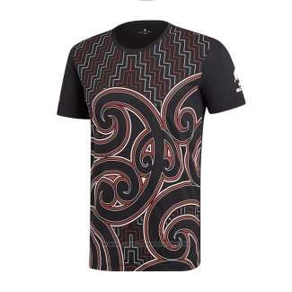 Camiseta Nueva Zelandia All Blacks Maori Rugby 2019 Brown